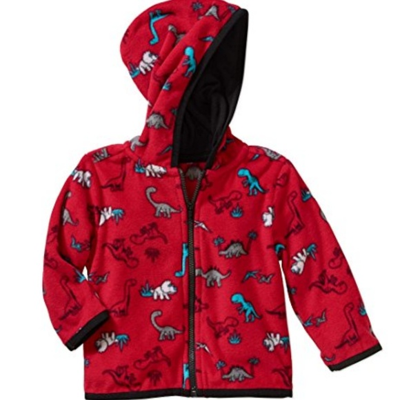 Geranimals Girls Red Cool Polar Bear Pullover Fleece Shirt Sweatshirt
